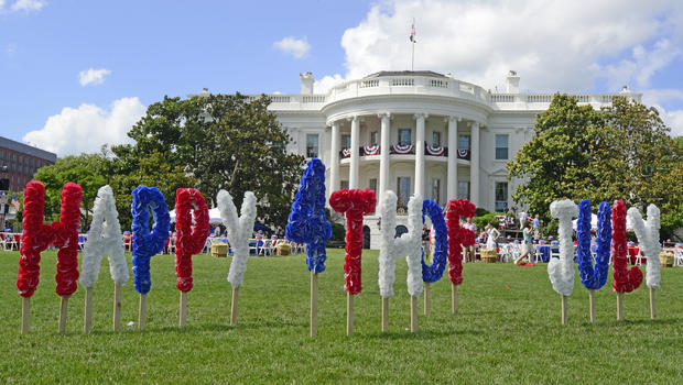 The Fourth of July on the White House South Lawn. (WH)