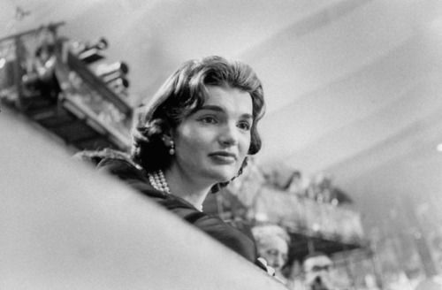 Jacqueline Kennedy at the 1956 Democratic Convention. (Life)