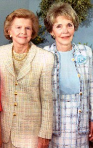 Mrs. Ford and Mrs. Reagan in 1994.