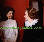 Betty Ford speaks to Jackie Kennedy Onassis 1976.