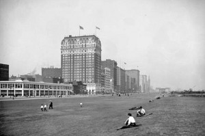 """Chicago's Blackstone Hotel where the legendary """"smoke-filled room"""" was located. (Chicago Historical Society)"""