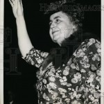Edith Wilson stands to acknowledge the convention cheers. (ebay)