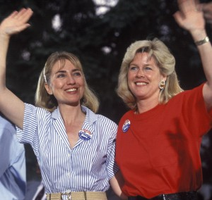 At the end of the convention, Hillary Clinton began campaigning with Tipper Gore. (Getty)