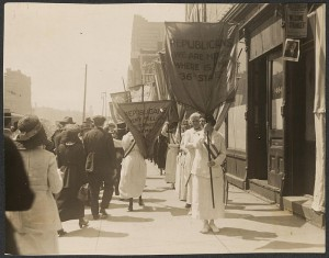 Although suffragists picketed the 1920 Republican convention, Florence Harding declared herself among their ranks. (LC)