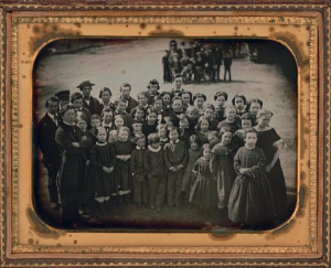 A Sunday School Union group in 1849, the year such a group were received by Mrs. Taylor on July Fourth. (Pinterest)