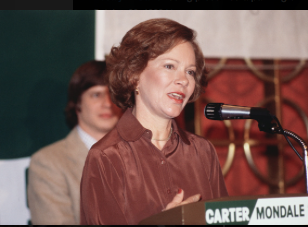 n 1980 Rosalynn Carter assumed all of the responsibilities of the incumbent President running for revelation. (Getty)