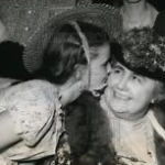 Kisses for Mrs. Wilson at the 1940 Convention. (Historical Image)