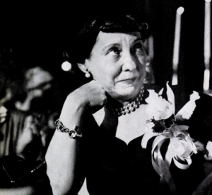 Mamie Eisenhower listened to a speech. Some thought she might cry because of the content. In truth, she had a bad toothache.(Life)