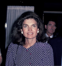 Jacqueline Kennedy Onassis attended a Kennedy fundraiser breakfast at the 21 Club but then went to work, unwilling to serve as a symbol of an earlier era. (Getty)
