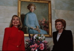 Betty Ford and Hillary Clinton. (Getty)