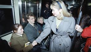 Hillary Clinton campaigning during the 1992 New York primary. (Pinterest)