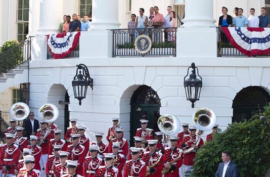 Michelle Obama welcomed  military families for White House Fourth of July celebration throughout her tenure. (WH)