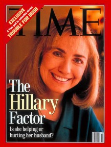 The candidate's spouse on the cover of Time during the 1992 campaign.