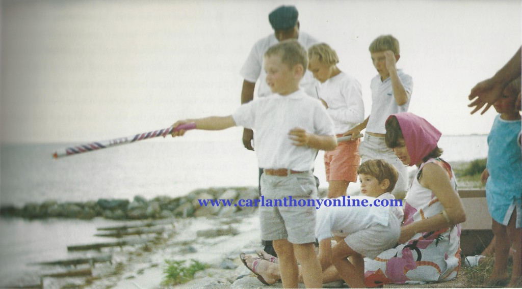 Jackie Kennedy with her son and several nephews at Cape Cod, July 4, 1963.