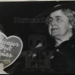 A heated Edith Wilson fanning herself at the 1940 Democratic Convention. (Historical Images)