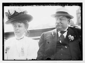 Teddy Roosevelt accused Nellie Taft to her face of being more ambitious for the presidency than her husband Will was. (LC)