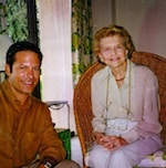 The author with Mrs. Ford in 2001.
