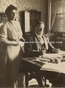 Nellie Taft standing beside her husband Will in his office, They were political partners. (carlanthonyonline.com)