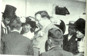 Alice Roosevelt with Will Taft on their Asian tour. (LC)