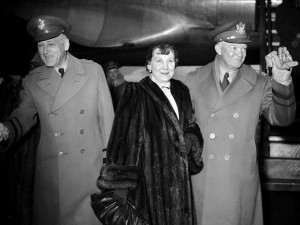 Discretion, discipline and diligence were all virtues Mamie Eisenhower learned from a military life. (original source unknown)