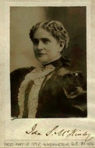 Ida McKinley photo signed by her husband using her name. (collector.com)