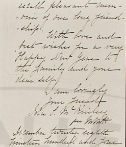 Sometimes Maud Healy identified herself as having written a letter for Mrs. McKinley. (pbgalleries.com)