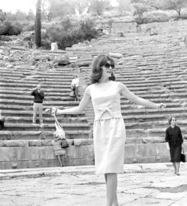 Jacqueline Kennedy takes in the Greece National Theater on Epidaurus. (UPI)