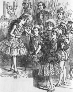 Robert Tyler's daughter Mary was honored with a children's costume party in the White House, attended by Dolley Madison, President Tyler and Priscilla Cooper Tyler, her mother. (NFLL)