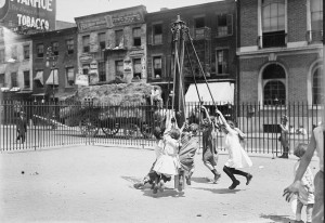 An urban playground at the turn-of-the-century. (LC)