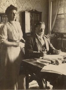 Nellie Taft was an engaged political partner to her husband, William Howard Taft. (LC)