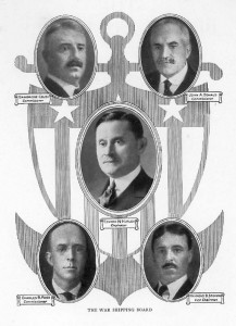 The Shipping Board members, its director Edward Hurley depicted at the center. (gwpda.org)