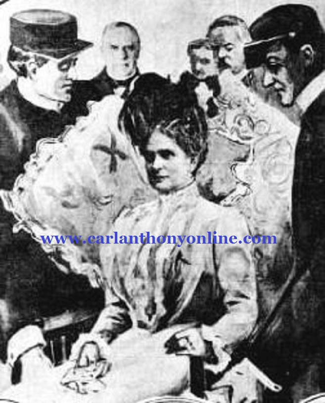 A newspaper illustration showed First Lady Ida McKinley as an invalid in a wheelchair.