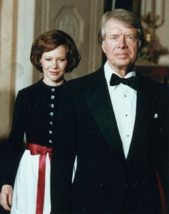 Rosalynn Carter during a state dinner for the Shah of Iran.