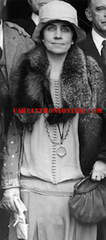 Grace Coolidge in 1928, when she suffered heart palpitations. (carlanthonyonline.com)
