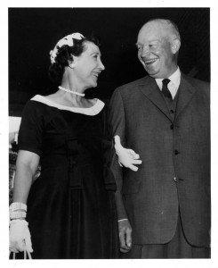 The President and Mrs. Eisenhower some two weeks after her surgery. (Waldorf Astoria Archives)