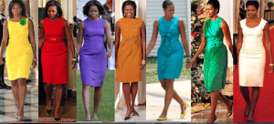 "Mrs. Obama's ""structured sheath"" dresses evoked a style popularized by Jackie Kennedy. (Pinterest)"