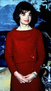 Mrs. Kennedy's red wool suit worn during her TV tour of the White House. (JFKL)