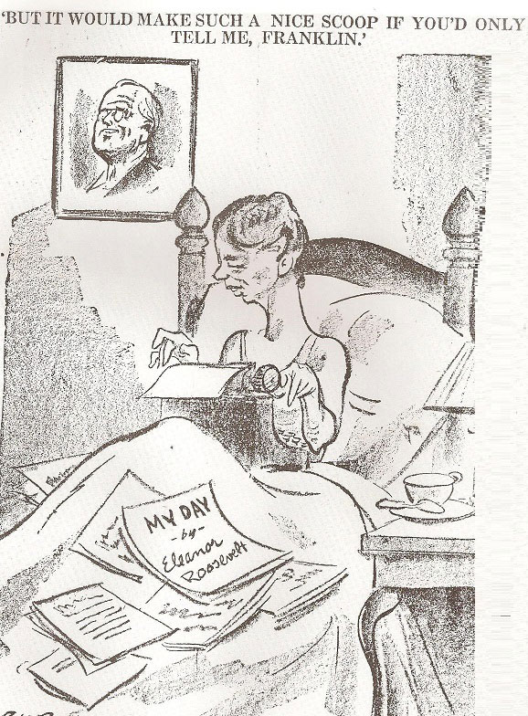 A Cartoon Suggesting The First Lady Used President For Scoops That She Could Break In