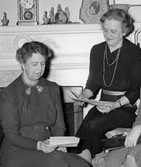 "As First Lady, Eleanor Roosevelt working with her trusty, reliable aide Malvina ""Tommy"" Thompson. (FDRL)"