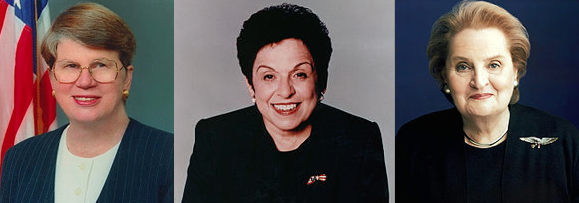 Hillary Clinton Worked Closely On A Number Of Issues With Cabinet Members  Donna Shalala, Janet