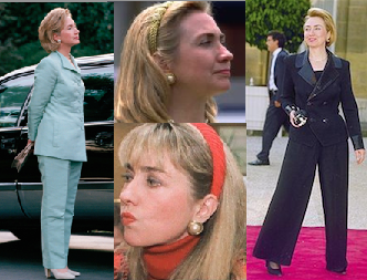The hair headbands Hillary Clinton used at the start of her tenure as First Lady to the pants suits she wore at the end of it became iconic looks associated with her, both reflecting her activism and professionalism. (pinterest)