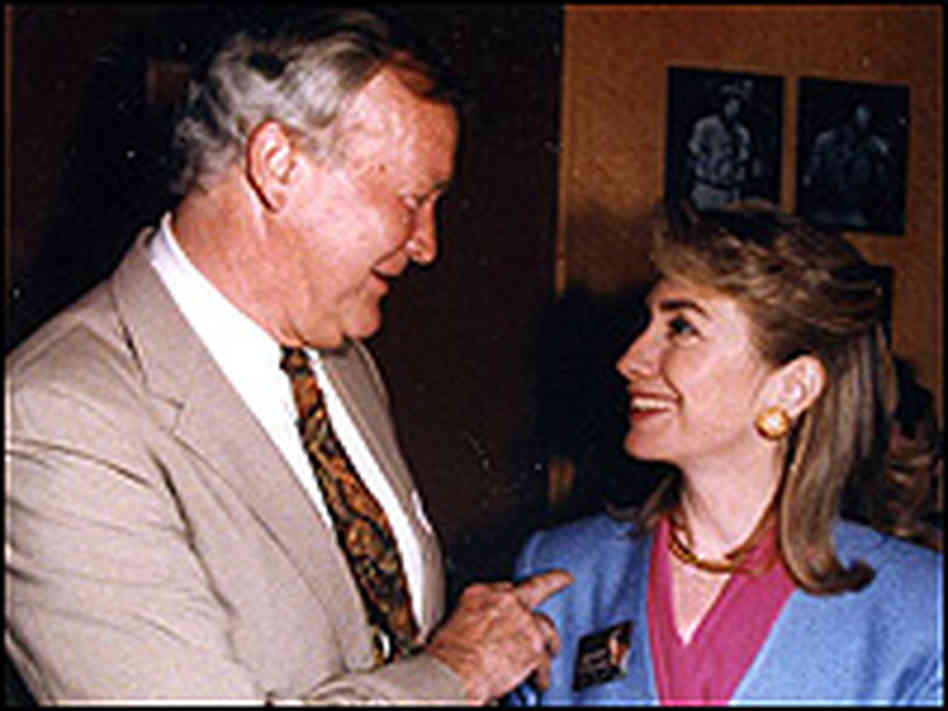 Hillary Clinton with her influential youth minister Don Jones. (NPR)