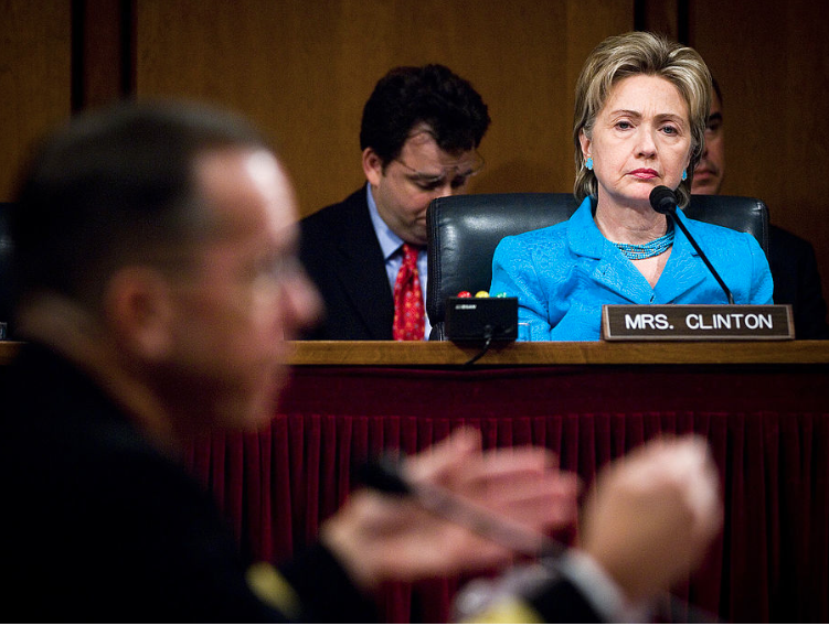 Senator Clinton conducts a Senate Armed Services Committee hearing. (Senate Armed Services Committee)