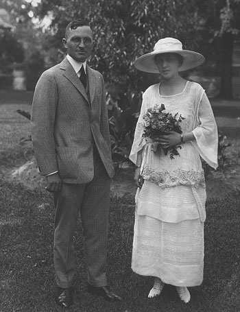 Harry and Bess Truman on their wedding day. (HSTL)