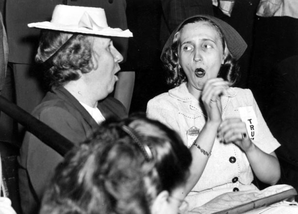 Bess Truman and her daughter at the 1944 Democratic National Convention. (HSTL)