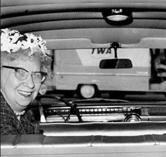 As a former First Lady, Bess Truman especially enjoyed driving her own car again. (HSTL)