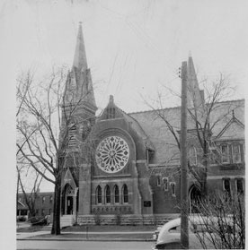 The First Presbyterian Church where Harry Truman met Bess Wallace while both were Sunday school students there. (HSTL)